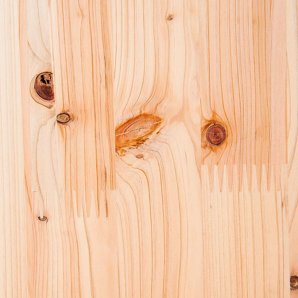 橋本達之助工芸/紀州檜天然木 ダストボックス Lサイズ(樹脂製ボックス付き)|ゴミ箱 木目が美しい紀州檜 *天然木のため木目や色目は一点一点異なります。無垢材ならではの自然な風合いをお楽しみください