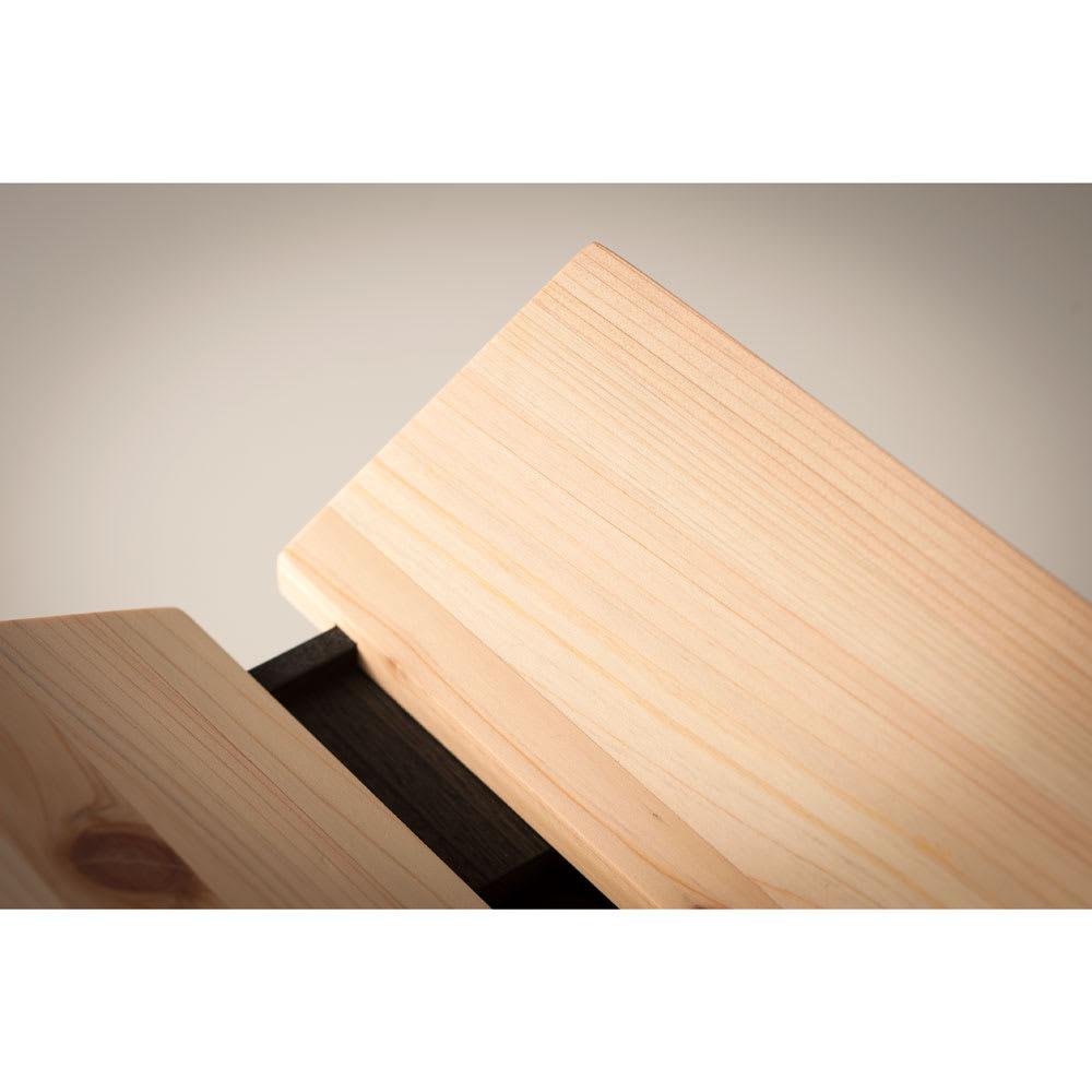橋本達之助工芸/国産 紀州檜天然木 3WAYティッシュケースボックス ぜいたくに紀州檜を使用
