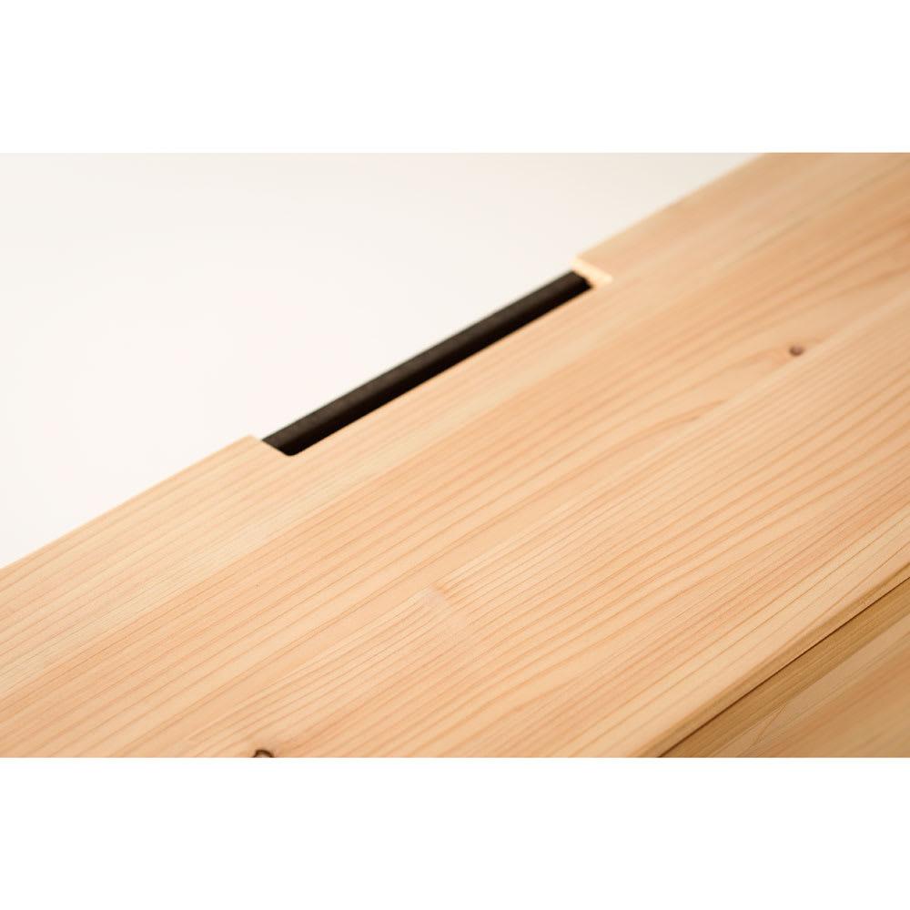 橋本達之助工芸/ケーブルボックス|国産 紀州檜天然木 上面の隙間はスマホの充電等に便利