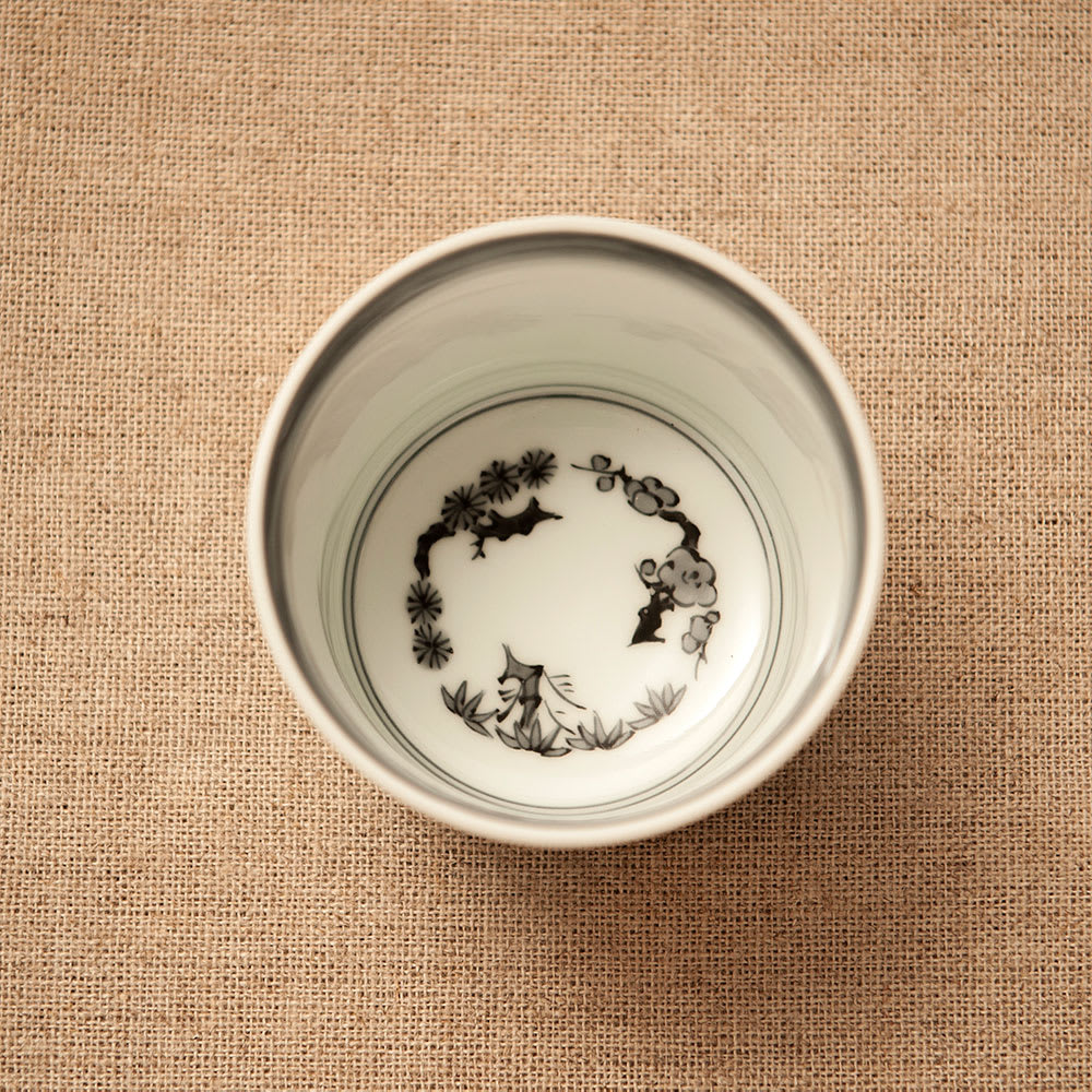 amabro(アマブロ)/CHOKU 有田焼そば猪口1個 格子