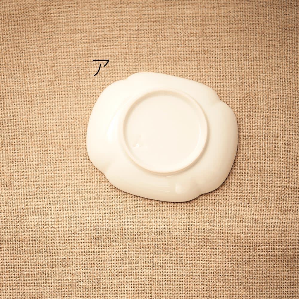 amabro(アマブロ)/MAME 有田焼豆皿1枚 ア:草花文木瓜形皿Back