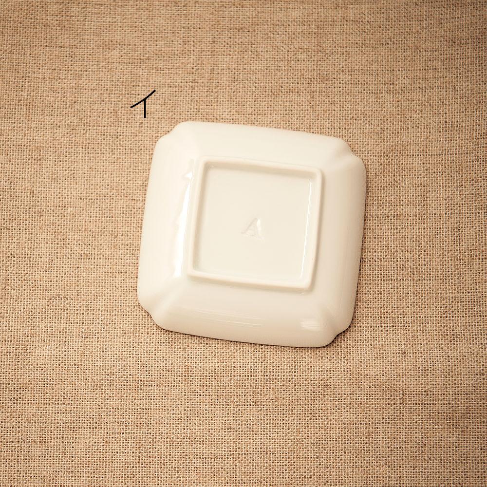 amabro(アマブロ)/MAME 有田焼豆皿1枚 イ:牡丹蝶文角皿Back
