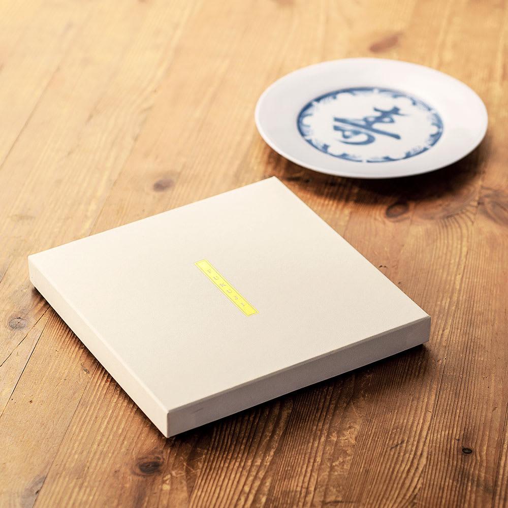 amabro(アマブロ)/FUKUJI 福字 丸皿1枚 ギフトに嬉しいデザインパッケージ付き