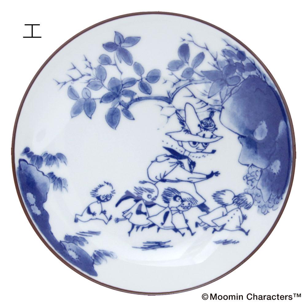 amabro(アマブロ)/MOOMIN×amabro SOMETSUKE 有田焼丸皿1枚 エ:プレイング