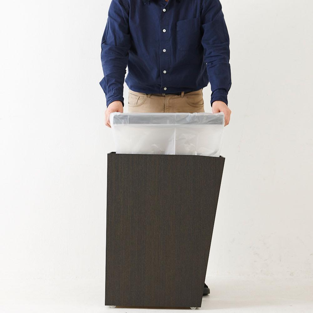 橋本達之助工芸/紀州檜天然木リビングダストボックス容量45L(2分別対応可能)|ゴミ箱 ヒノキ天板は置き式なので簡単に取り外せます。その為ゴミ袋の付け替えもスムーズに行えます