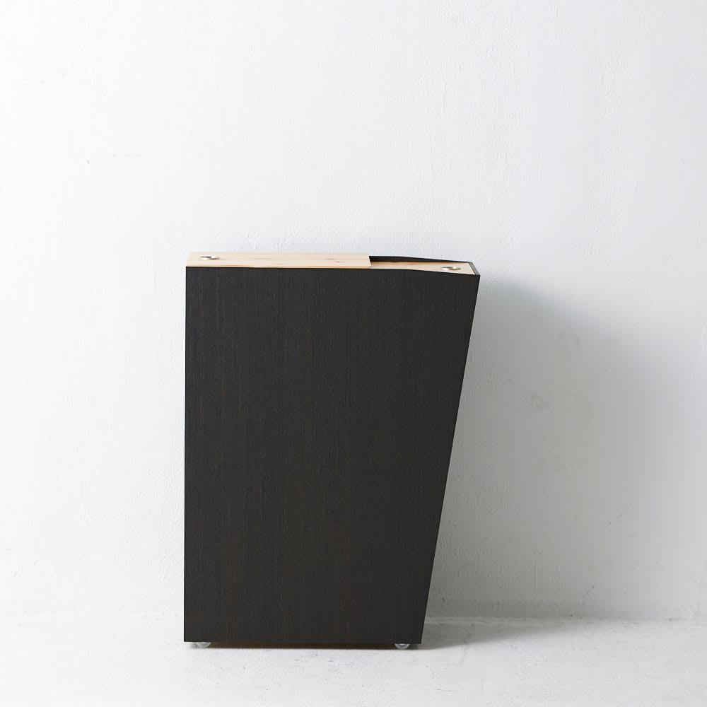 橋本達之助工芸/紀州檜天然木リビングダストボックス容量45L(2分別対応可能)|ゴミ箱
