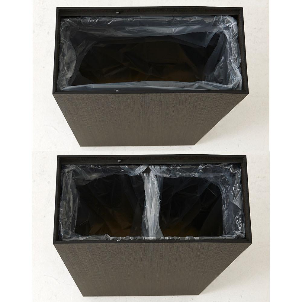 橋本達之助工芸/紀州檜天然木リビングダストボックス容量45L(2分別対応可能)|ゴミ箱 1分別、2分別どちらでも対応可能