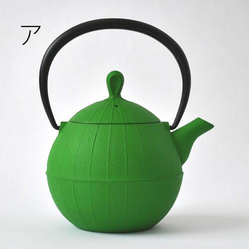 壱鋳堂/南部鉄器 Kurumi 胡桃 0.5L|ティーポット 急須 ア:グリーン