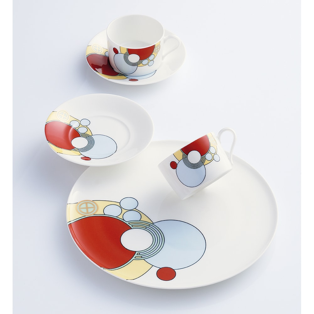 Noritake(ノリタケ)/フランク・ロイド・ライト デザイン ティー・コーヒーカップ&ソーサー 碗皿(1客)|洋食器