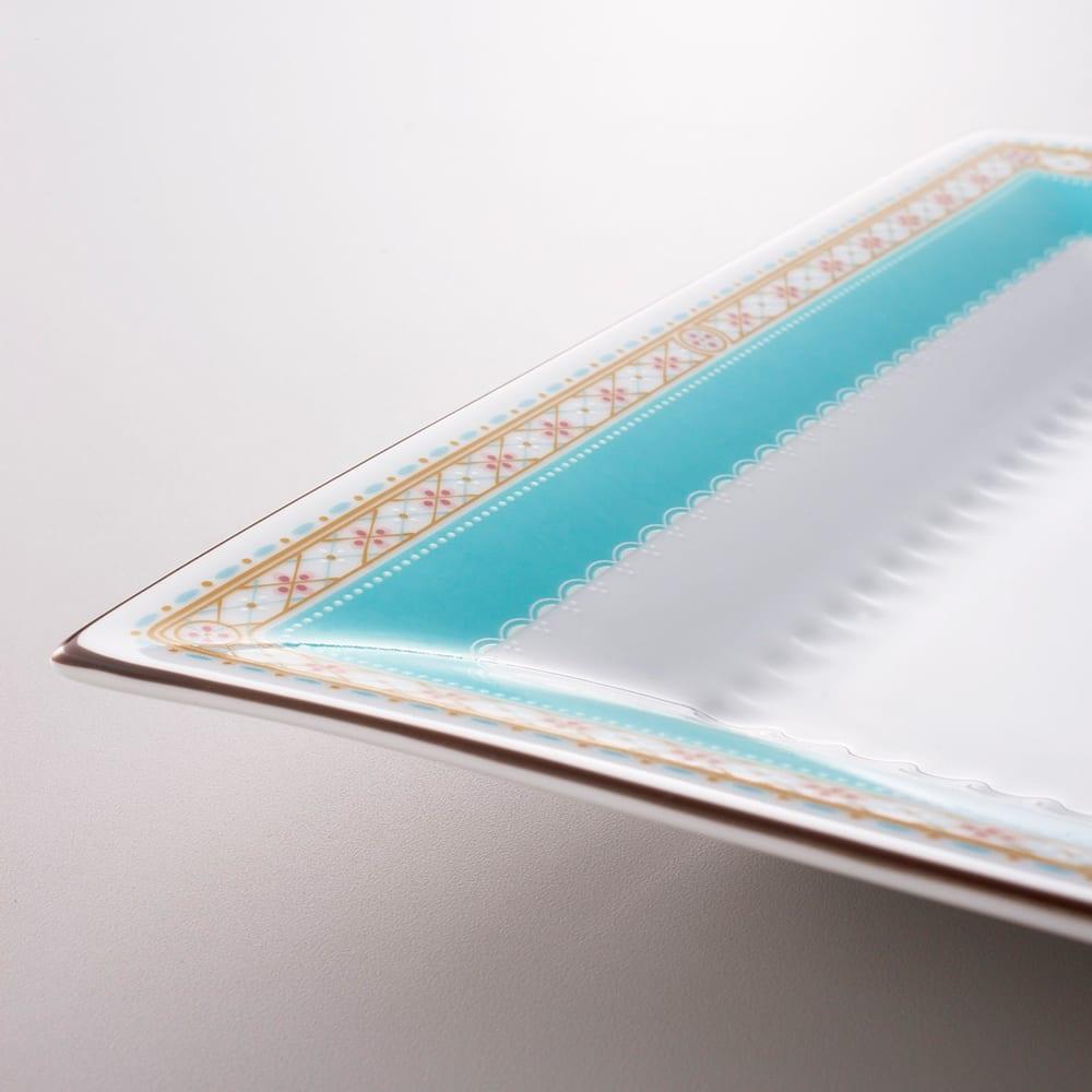 Noritake(ノリタケ)/ハミングブルー 23cmスクエアプレート(お皿) 洋食器