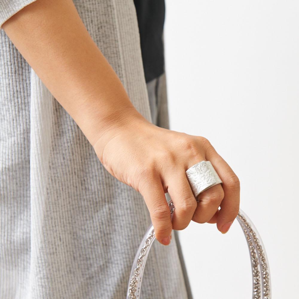 NAGAE+(ナガエプリュス)/TIN BREATH Ring ティンブレスリング シルバー色