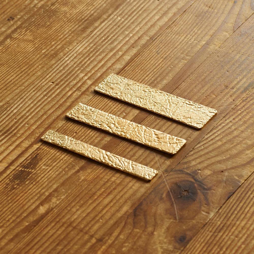 NAGAE+(ナガエプリュス)/TIN BREATH Ring ティンブレスリング ゴールド色 長さは共通。お好みの幅をお選びください