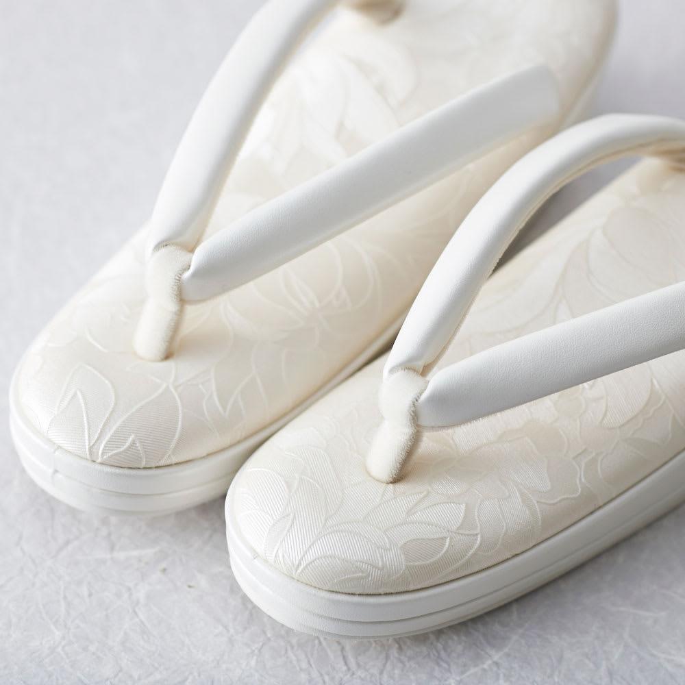 岩佐/花柄クッション 草履|結婚式・パーティ・卒業式・入学式