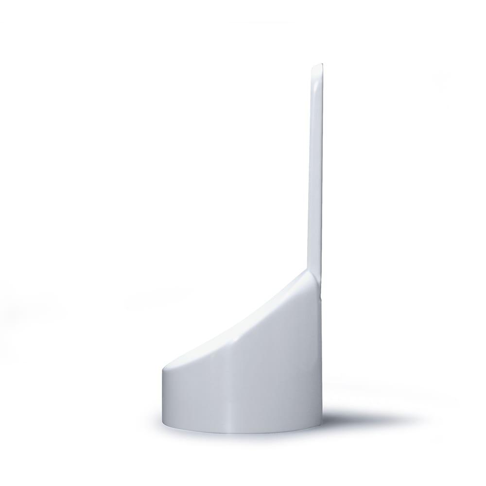gedy/ゲディ トイレブラシ 横から。安定感のあるスタンドは、傾斜が付いていて収納しやすく、シンプルで美しいデザイン。