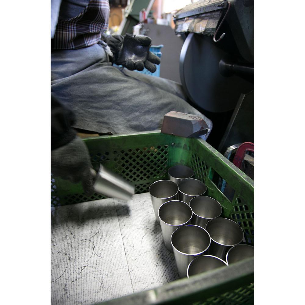 燕研磨ファクトリー/ステンレスぐい呑み100ml 木箱入2個組