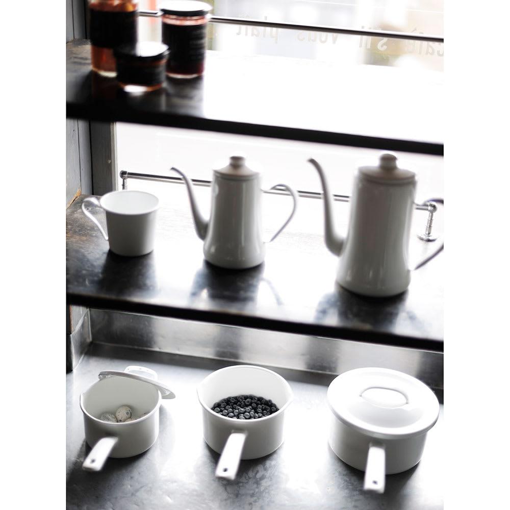 月兎印/琺瑯鍋ソースパン 16cm|片手鍋