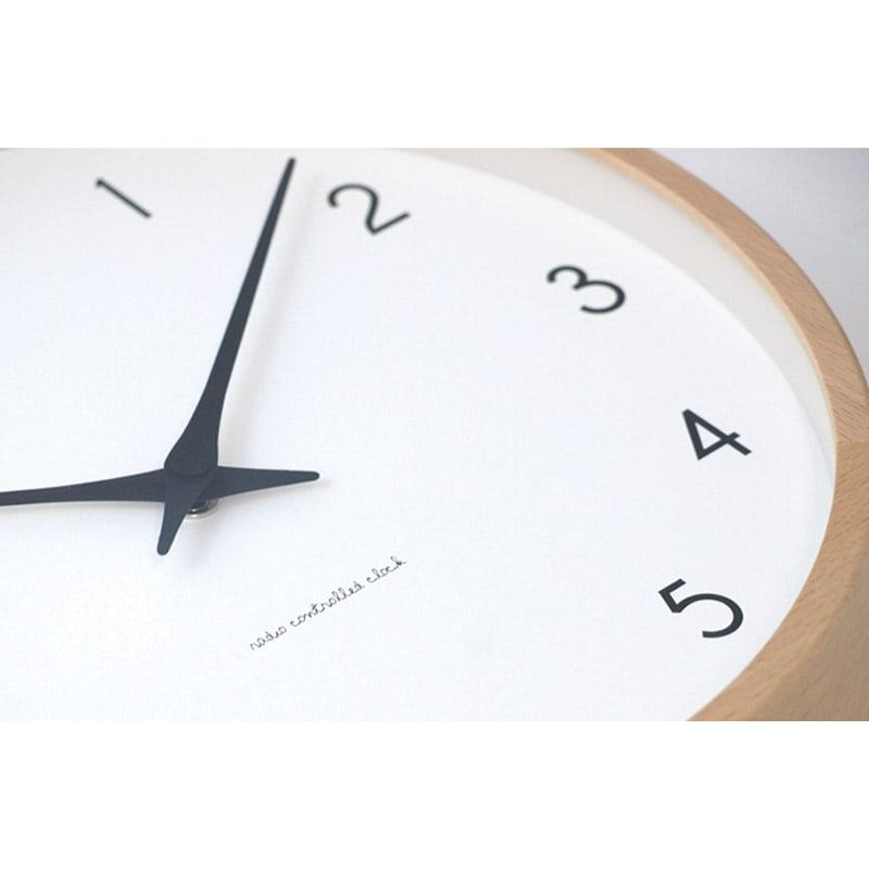 Lemnos(レムノス)Campagne(カンパーニュ) ウォールクロック壁掛け電波時計 (ア)ナチュラル