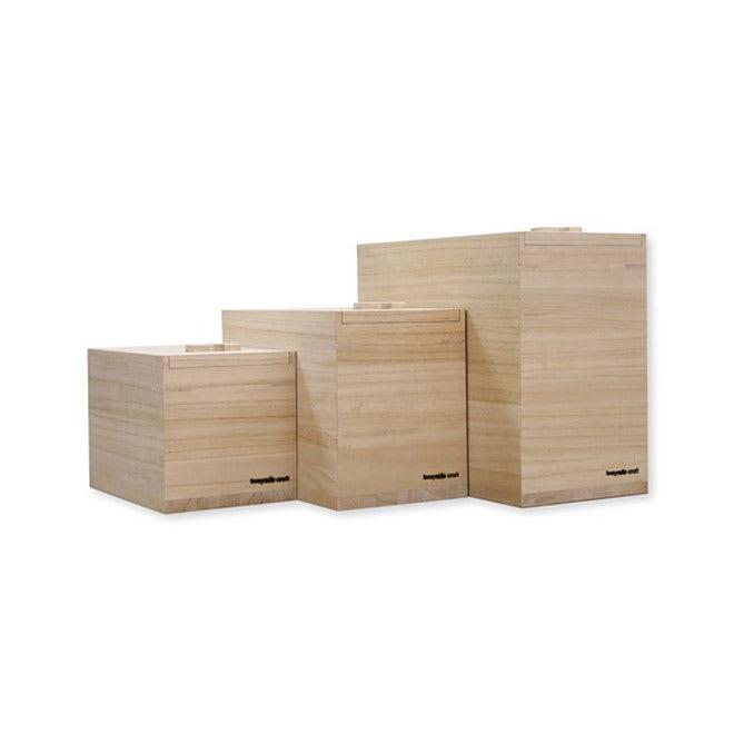岩谷堂/米びつ(漆仕上げ・木地仕上げ ) 木地仕上げ/3kg・5kg・10kg