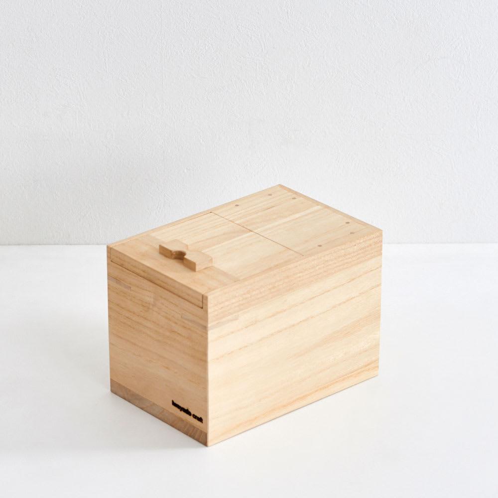 岩谷堂/米びつ(漆仕上げ・木地仕上げ ) 木地仕上げ3kg