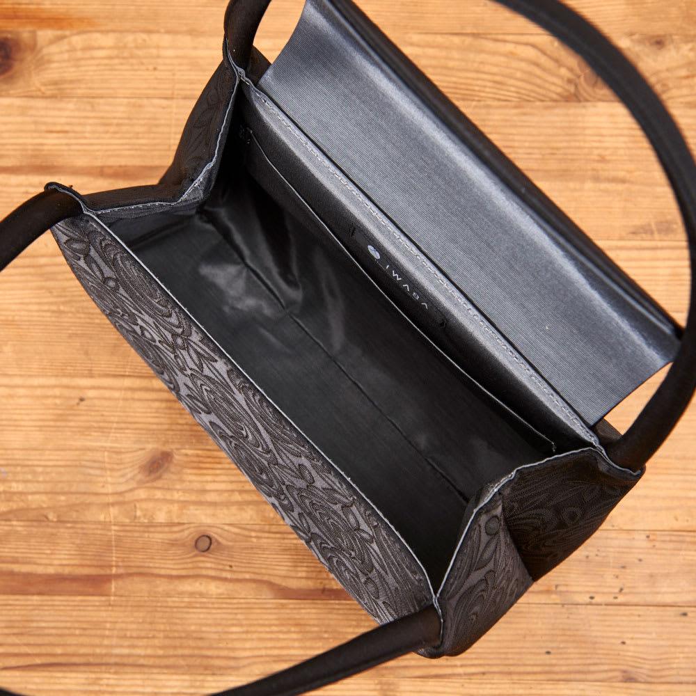 岩佐/ジャガード織隠しマグネットソフトバッグ |結婚式・卒業式・入学式・法事・パーティー 内側オープンポケット×1