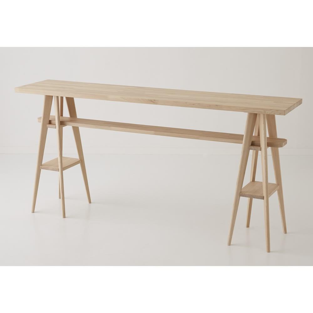 国産タモ天然木オーダーカウンタテーブル 幅170cm 写真のカウンターは幅180cmです