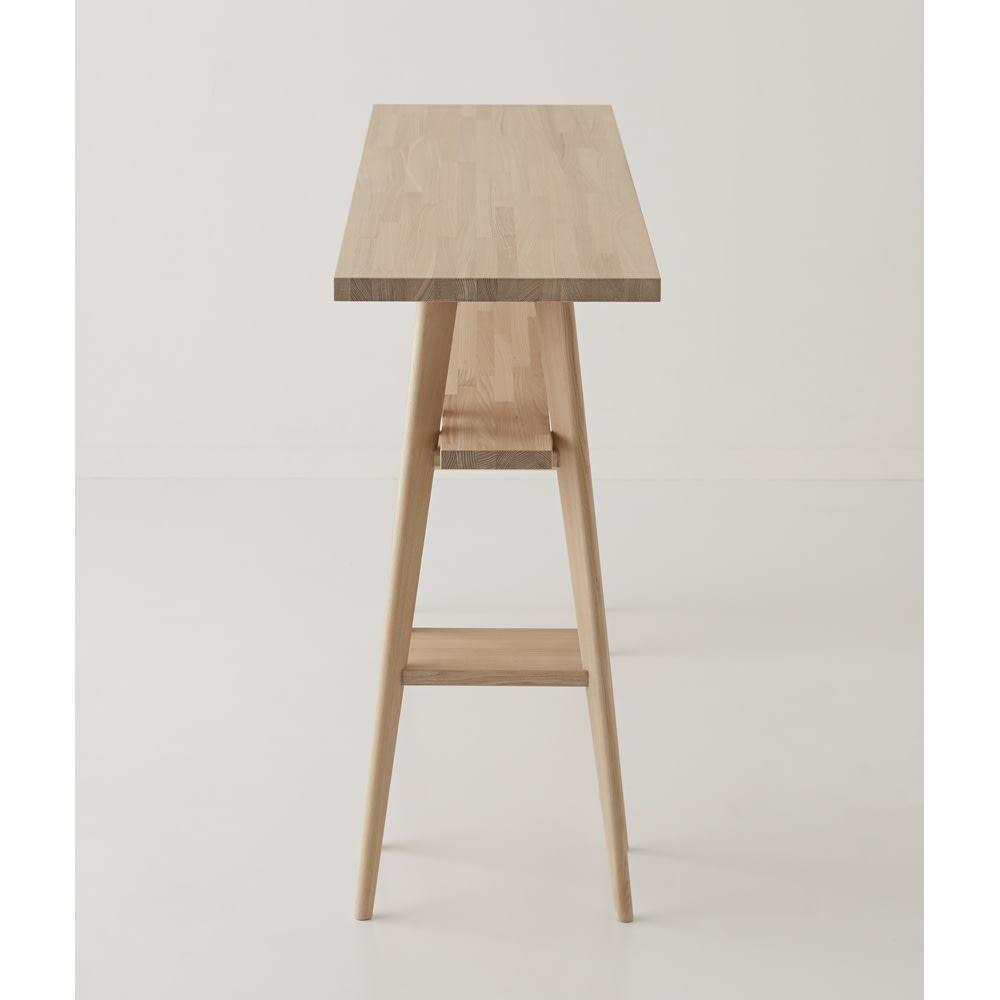 国産タモ天然木オーダーカウンタテーブル 幅180cm 奥行スリムな省スペース設計