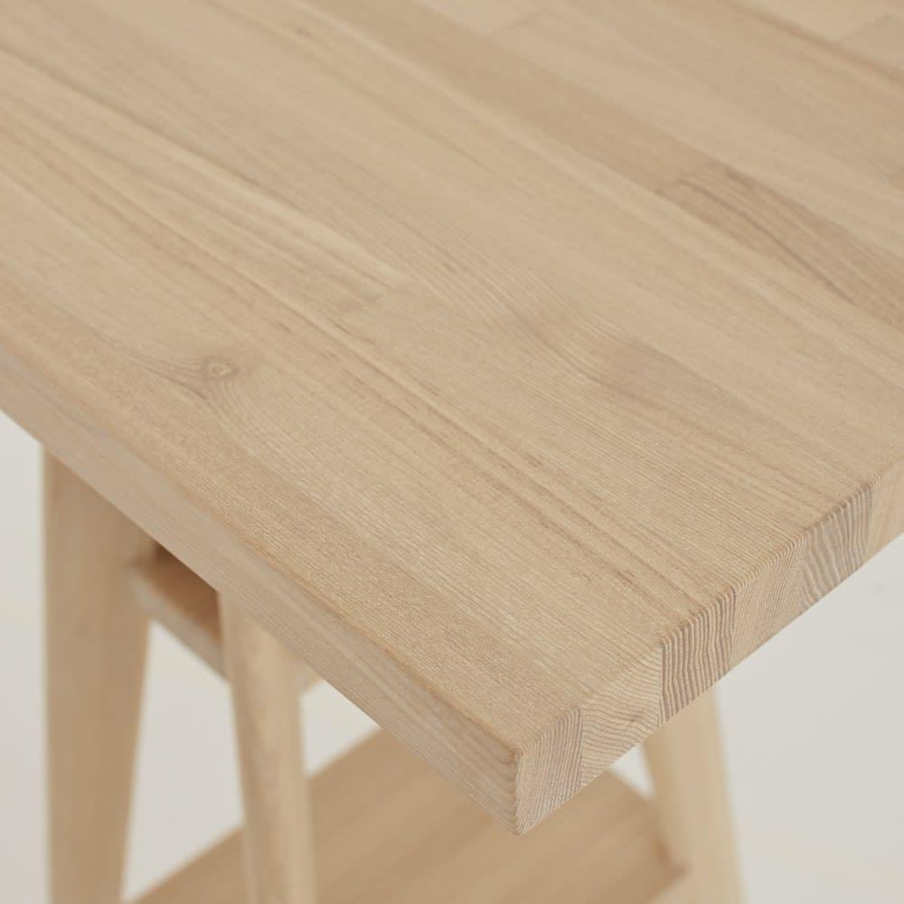 国産タモ天然木オーダーカウンタテーブル 幅220cm 北海道産のタモ無垢集成材を使用した厚み30mmの天板