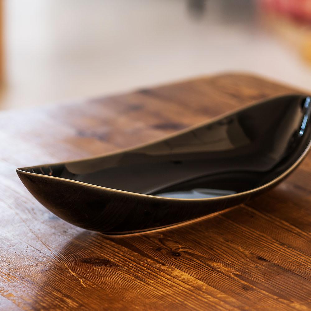 ARITA PORCELAIN LAB(アリタ・ポーセリン・ラボ)/楕円皿(大)sumi/墨ルリ|有田焼