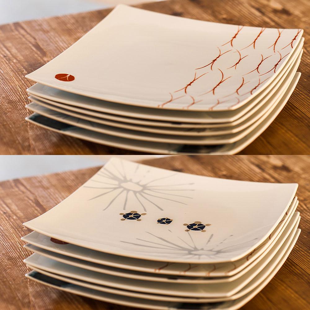 ARITA PORCELAIN LAB(アリタ・ポーセリン・ラボ)/正方皿(特大)|有田焼 (ウ)松、(エ)梅