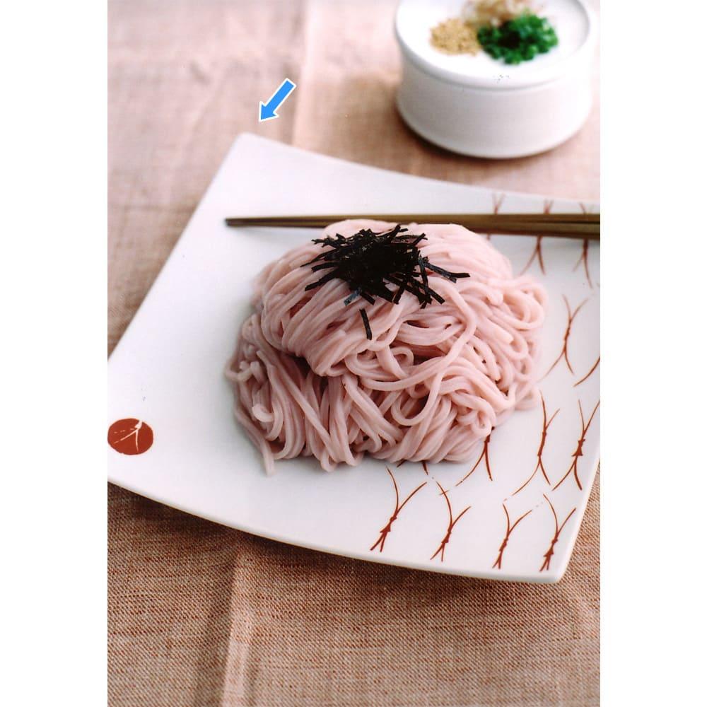 ARITA PORCELAIN LAB(アリタ・ポーセリン・ラボ)/正方皿(大)|有田焼 (ウ)盛り付けイメージ