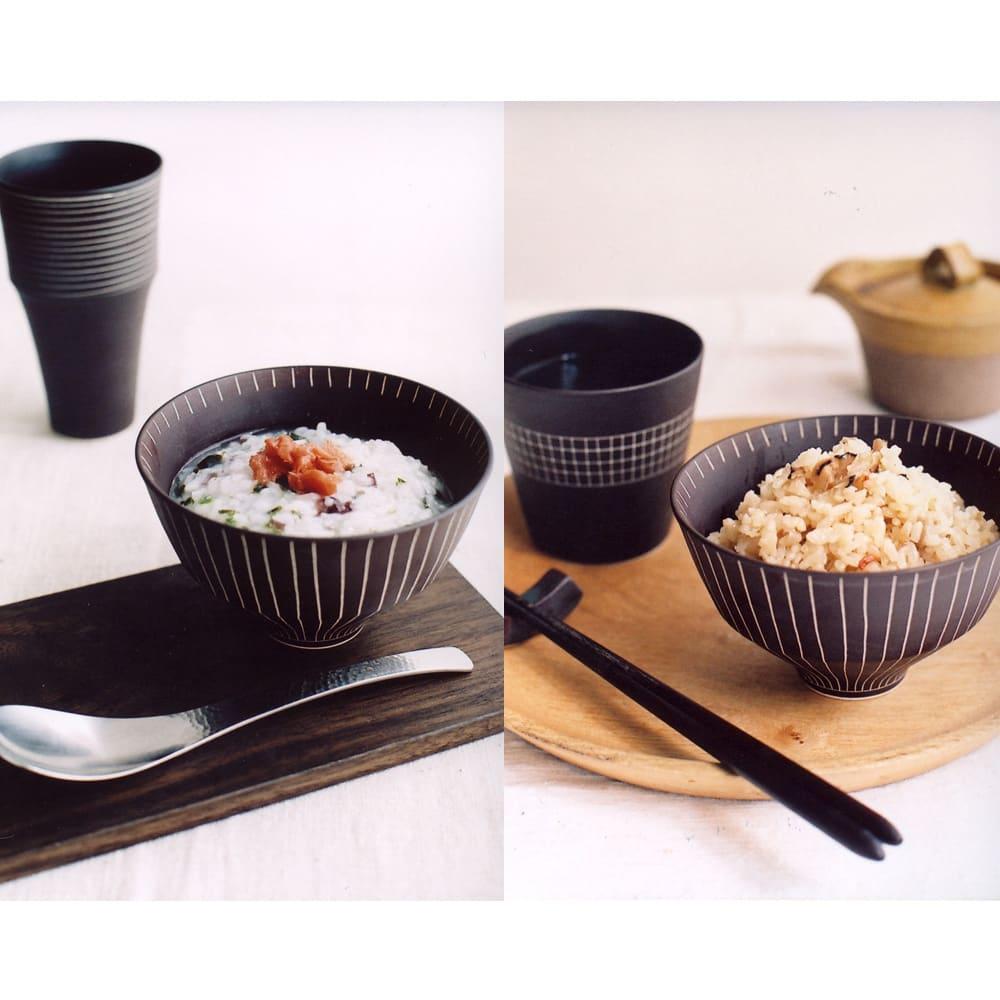 ARITA PORCELAIN LAB(アリタ・ポーセリン・ラボ)/飯碗 sabi/錆 有田焼 イ:盛り付けイメージ