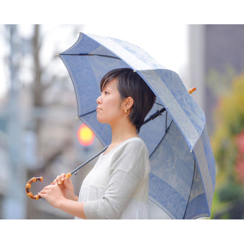 創業1866年槙田商店/ジャカード織 長傘(雨傘) kirie(キリエ)ペイズリー