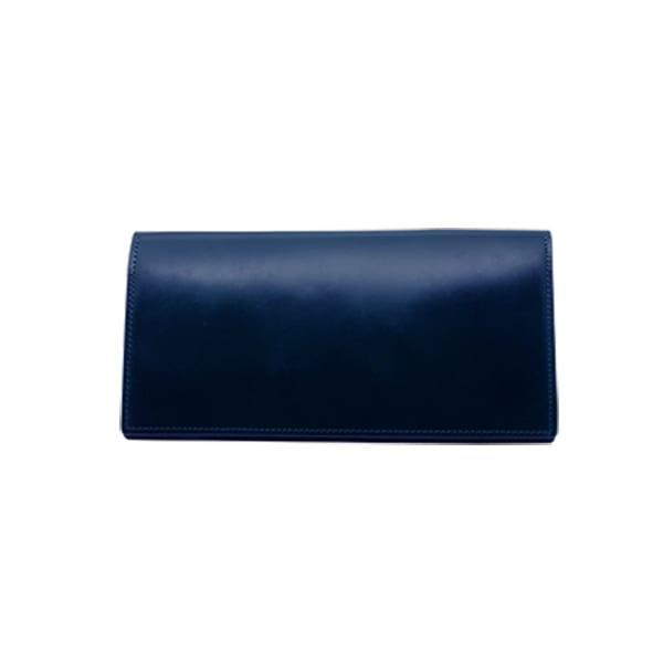 GREDEER コードバン 長財布(小銭入れ付) (ア)ブルー