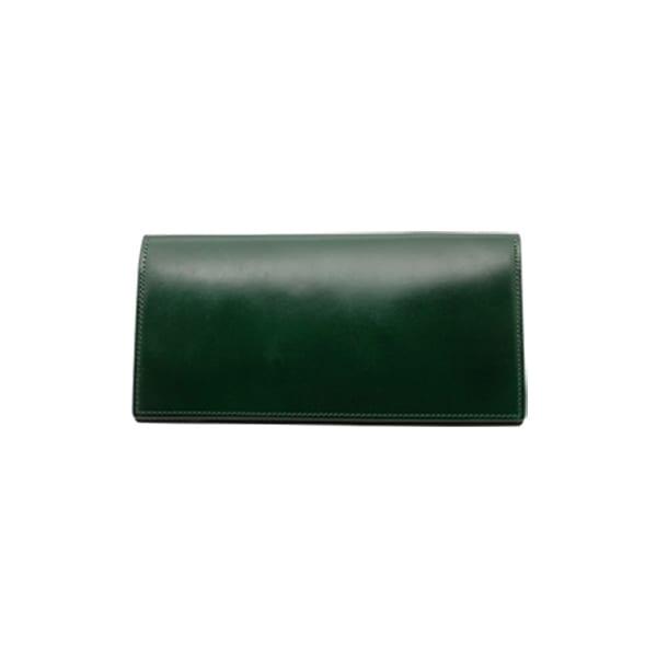 GREDEER コードバン 長財布(小銭入れ付) (イ)グリーン