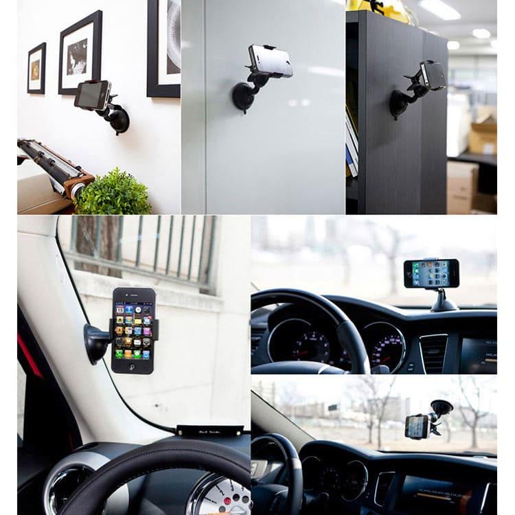 車載・卓上スマートフォンホルダー ExoMount ※お色はホワイトのみになります。