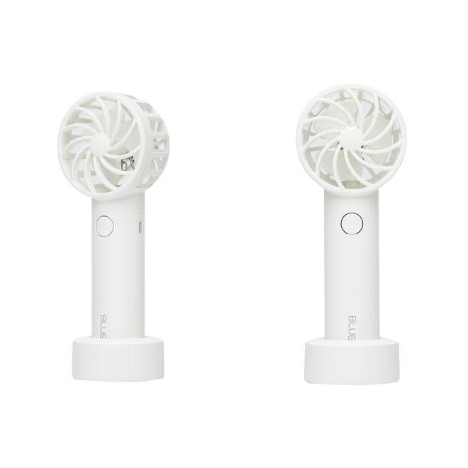 BLUEFEEL(ブルーフィール)/超小型ヘッド ポータブル扇風機 (イ)スノーホワイト