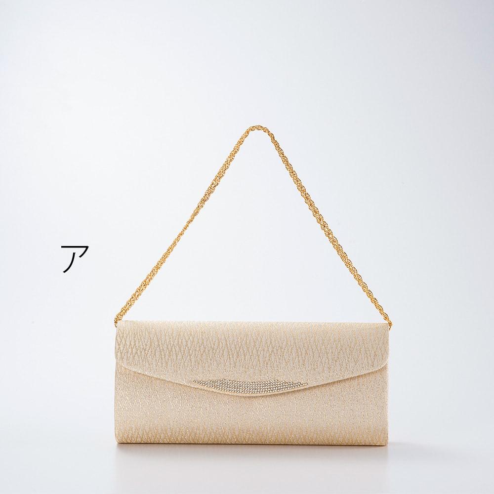 岩佐/錦織クラッチバッグ|結婚式・卒業式・入学式・パーティー チェーンを二重にすればハンドバッグにも