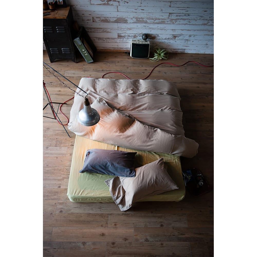 Fab the Home(ファブザホーム)/ダブルガーゼ ボックスシーツ (エ)ピスタチオ