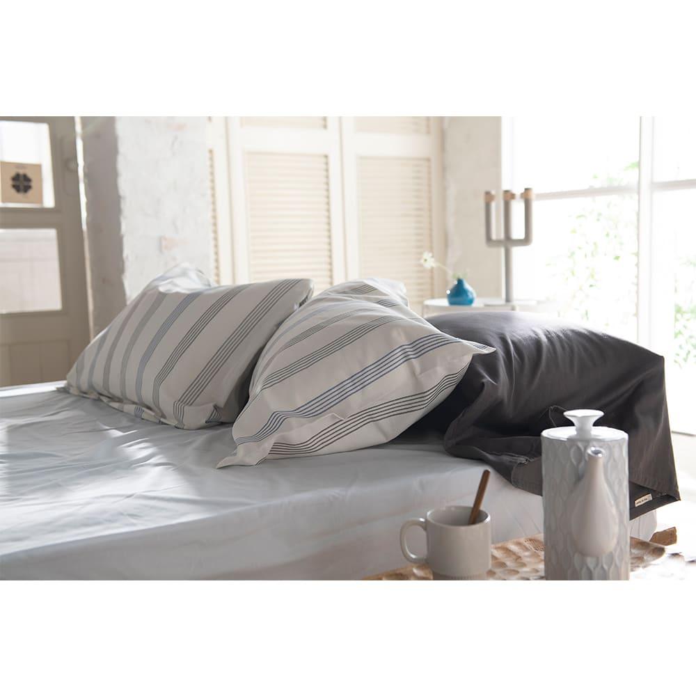 Fab the Home(ファブザホーム)/ウィッシュストライプ 枕カバー