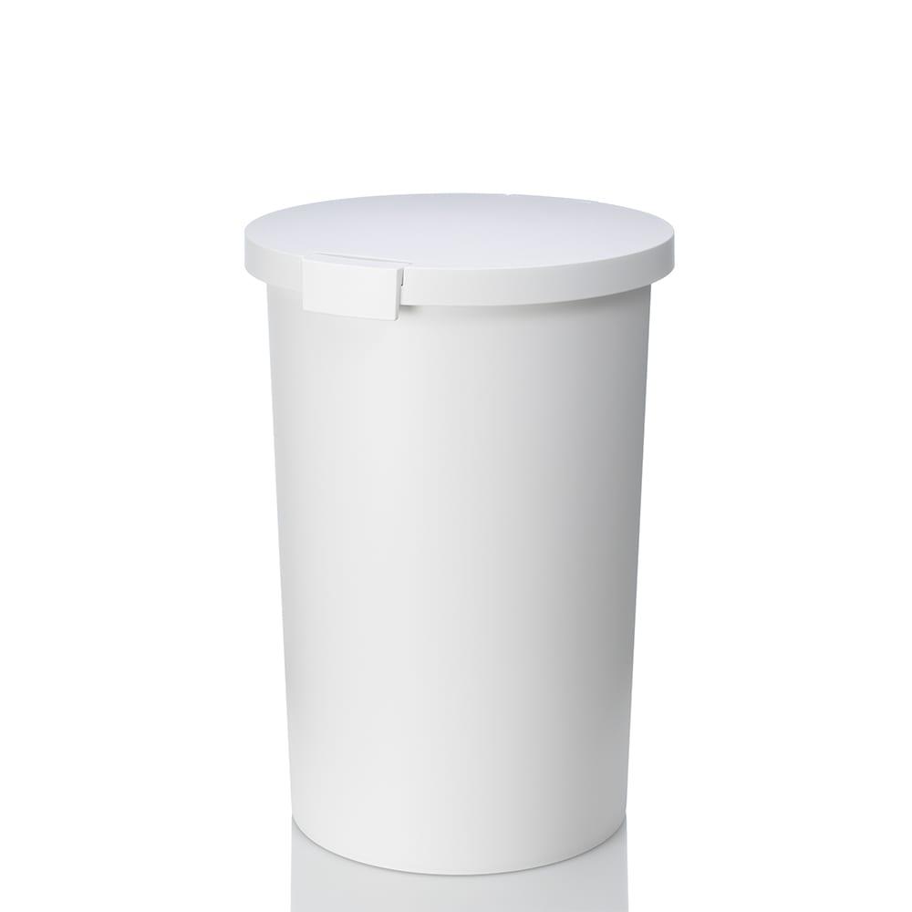KCUD(クード)/ラウンドペールゴミ箱 (ア)ホワイト