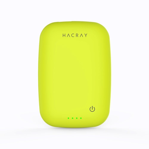 HACRAY(ハクライ)/ワイヤレス充電器+モバイルバッテリー Cable-Free Mobile Battery (イ)イエローグリーン