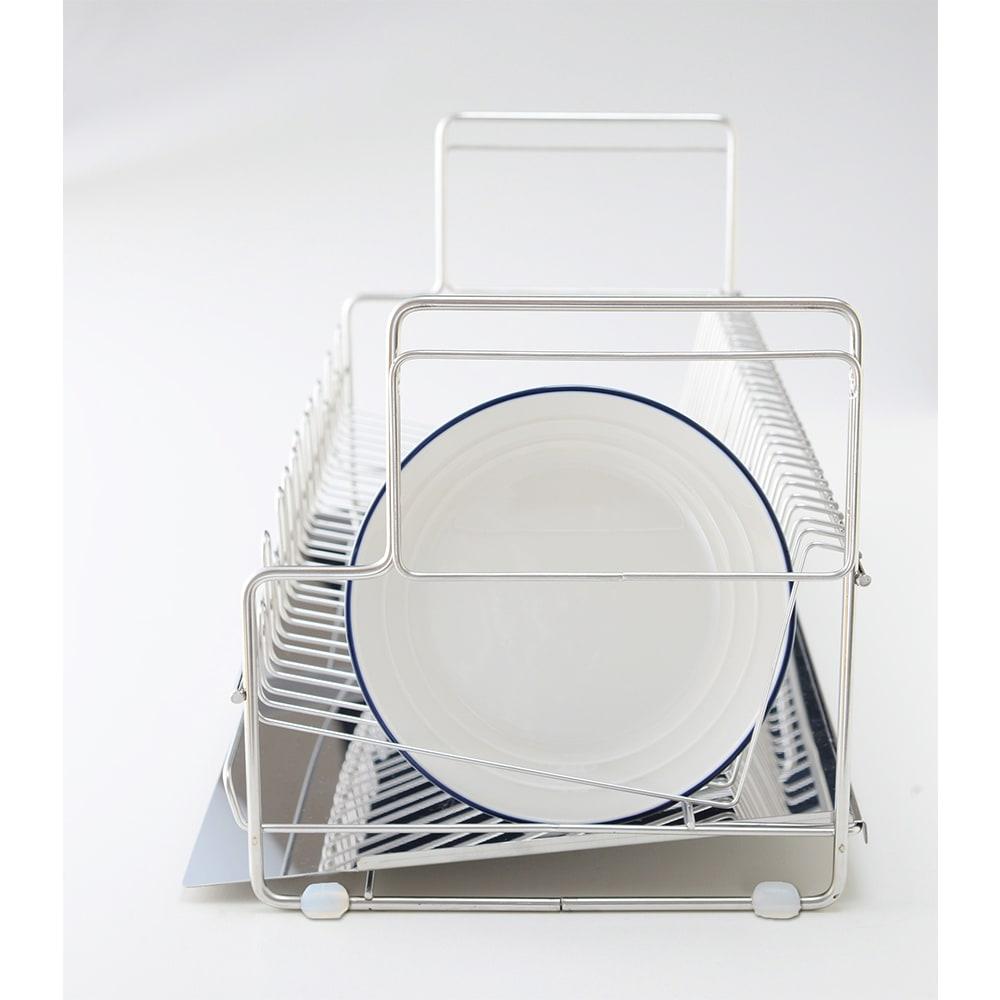 水切りラック デラックス 2段 小皿真横