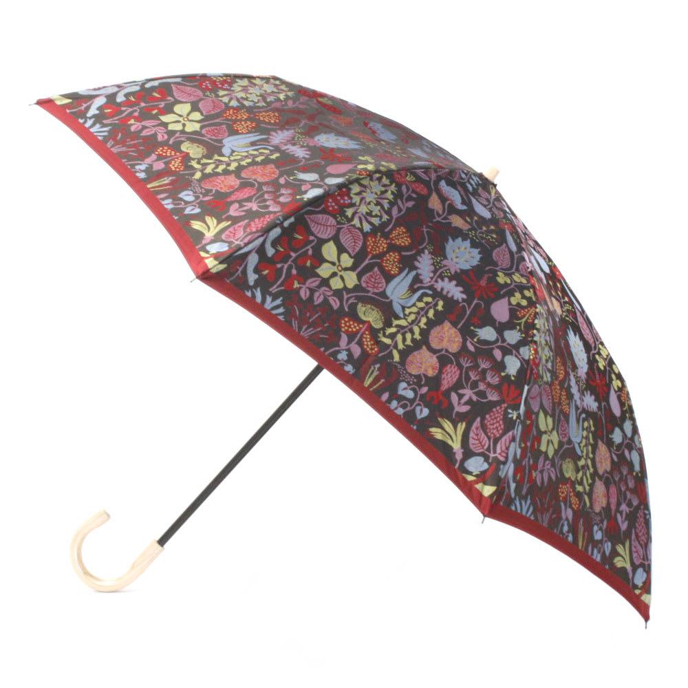槇田商店 スティグ・リンドベリ ハーバリウム 折りたたみ傘 (ウ)レッド