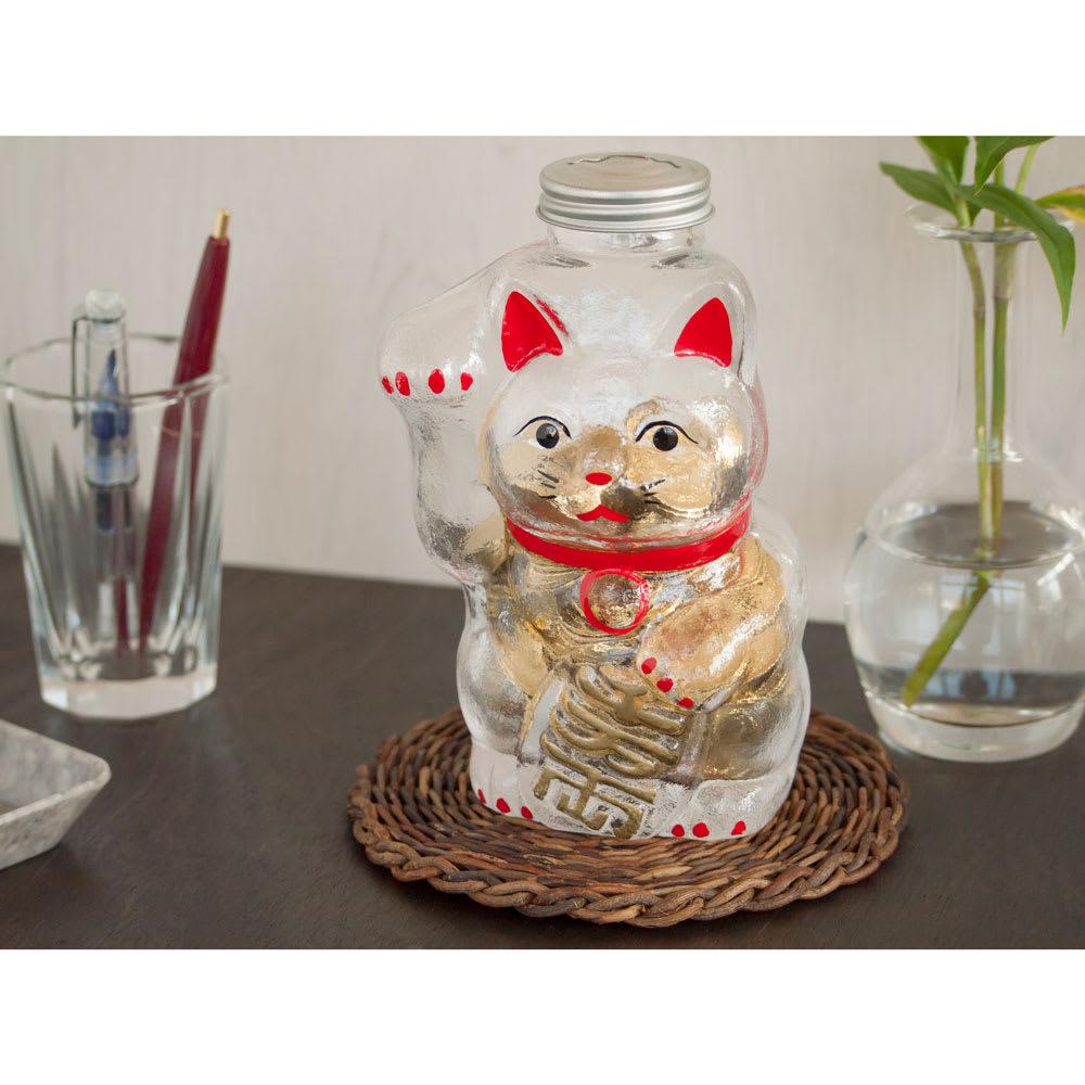 廣田硝子(ヒロタガラス)/招き猫 貯金箱