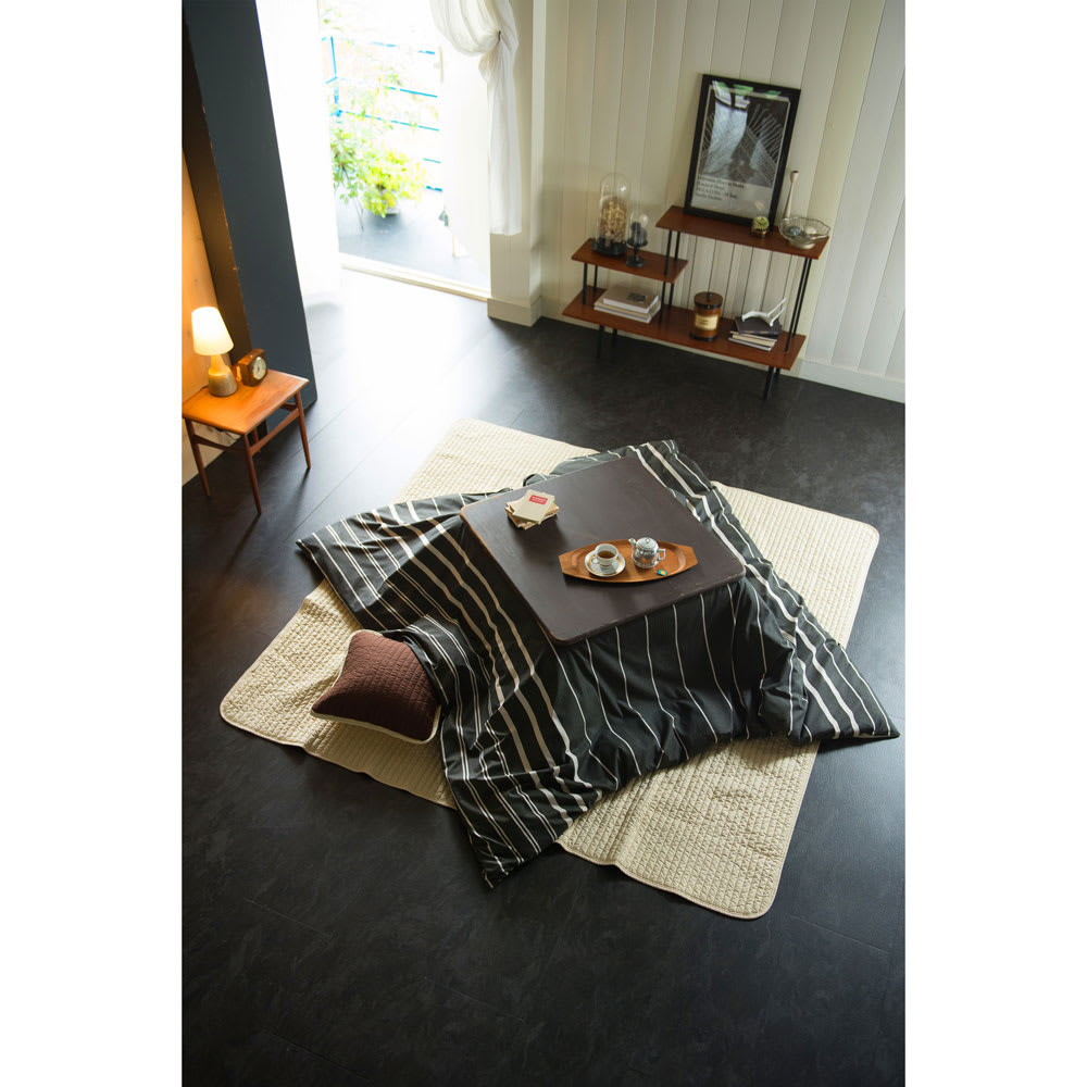 Fab the Home(ファブザホーム)/ゼブラノ こたつ布団カバー 正方形