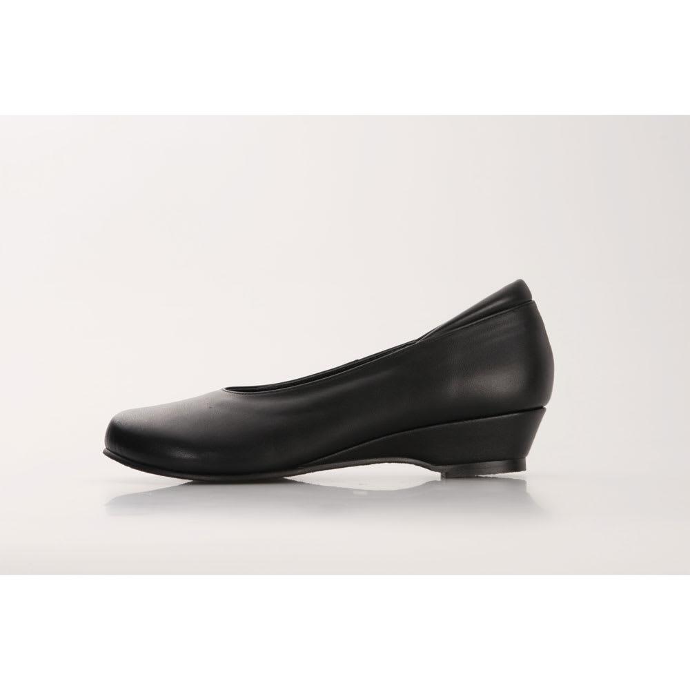 神戸シューズ 時見の靴/オブリークパンプス3.5cm ウエッジヒール ウェッジヒール