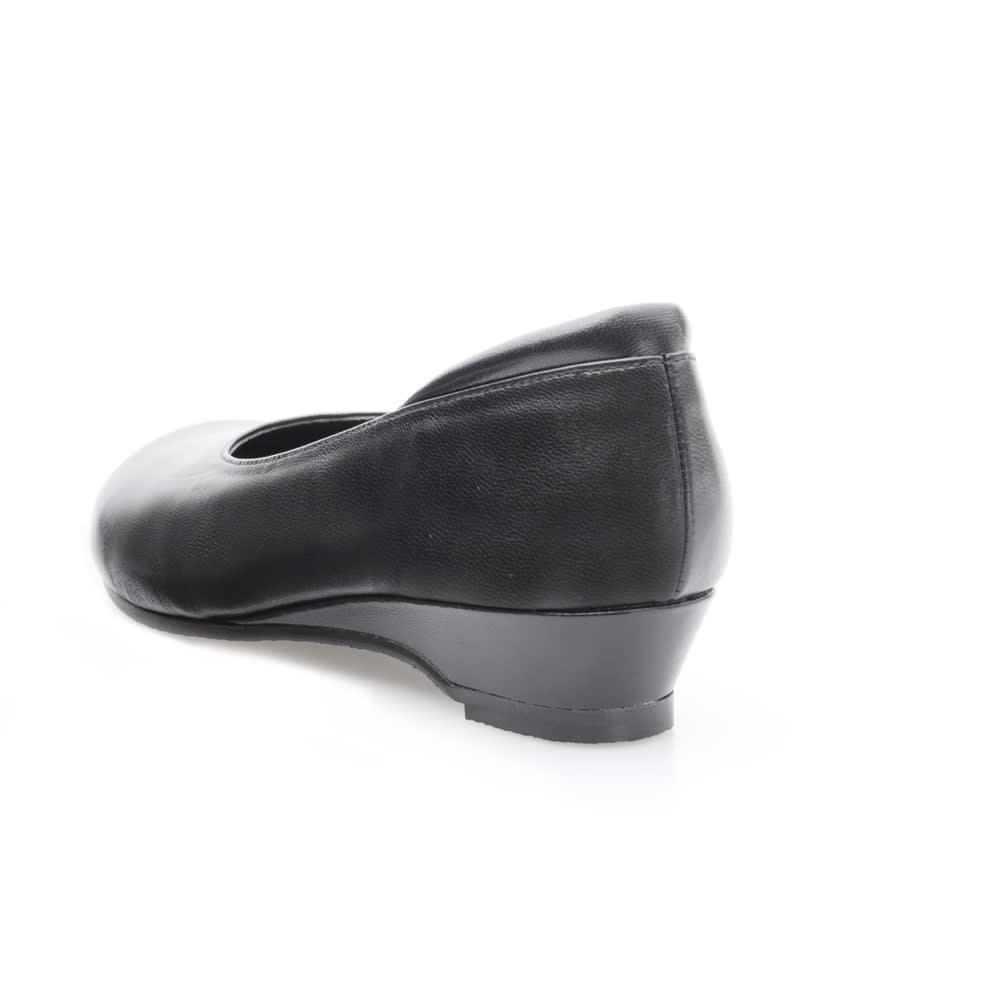 神戸シューズ 時見の靴/オブリークパンプス3.5cm ウエッジヒール