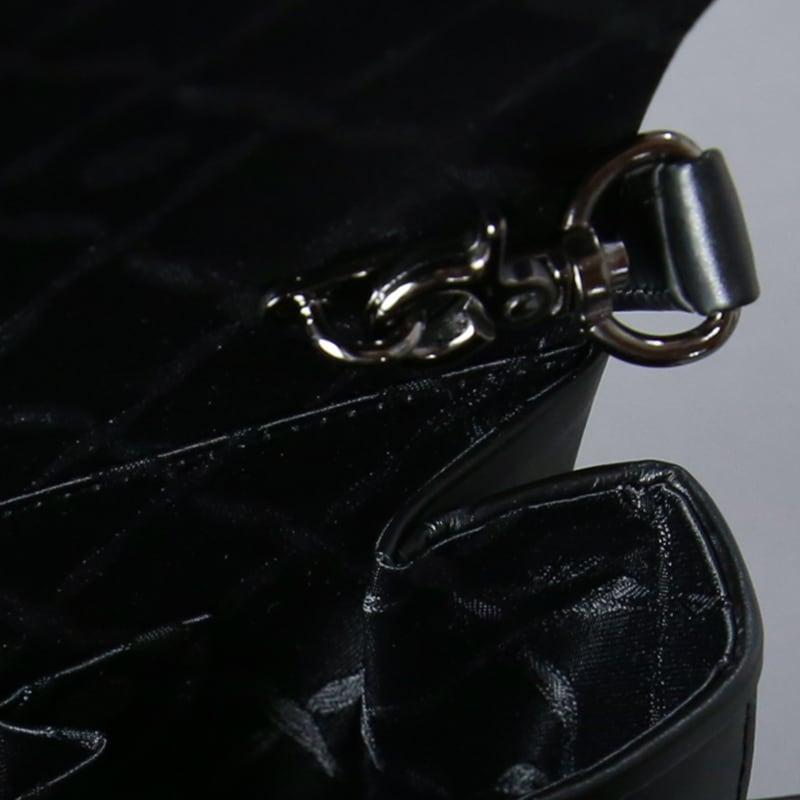 岩佐/ホースヘア2wayフォーマルバッグ<慶弔兼用シルバー金具付き/クラッチタイプ>