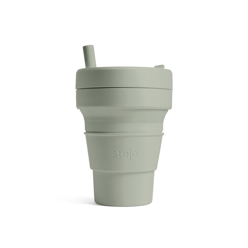 stojo BIGGIE 470ml 折り畳みマイカップ/マイタンブラー (イ)SAGE(グレー)