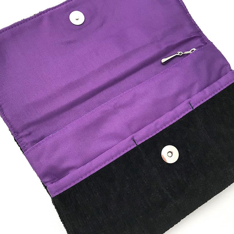 アーンジョー/シェニール織日本製カバーポーチ/クレマティスシリーズ